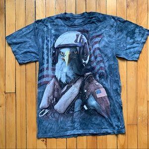 [vintage] • men's blue the mountain t-shirt